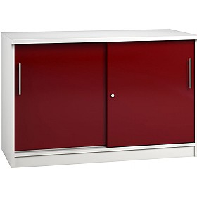 Reflections Burgundy Credenza Sliding Door Cupboards £341 - Office Storage