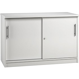 Reflections White Credenza Sliding Door Cupboards £341 - Office Storage