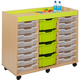 Bubblegum 24 Shallow Tray Storage Unit £0 - Education Furniture