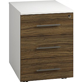 Reflections Dark Olive Low Mobile Pedestals £160 - Office Storage