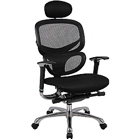 Desire 24Hr Ergonomic Air Mesh Seat Chair With Headrest £329 - Office Chairs