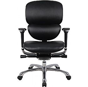 Desire 24Hr Ergonomic Full Leather Chair £329 - Office Chairs