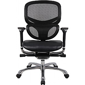 Desire 24Hr Ergonomic Chair Mesh Back Leather Seat £313 - Office Chairs