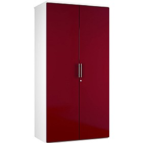 Reflections Burgundy Double Door Cupboards £235 - Office Storage