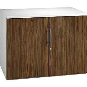 Reflections Dark Olive Desk High Cupboards £235 - Office Storage