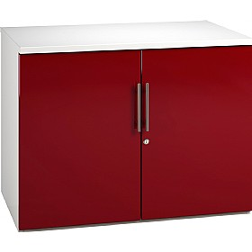 Reflections Burgundy Desk High Cupboards £235 - Office Storage