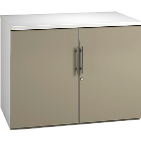 Reflections Stone Grey Desk High Cupboards £235 - Office Storage