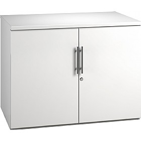 Reflections White Desk High Cupboards £235 - Office Storage