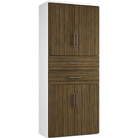 Reflections Dark Olive Twin Double Door Combination Cupboard With Drawers £588 - Office Storage