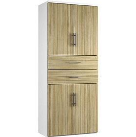 Reflections Light Olive Twin Double Door Combination Cupboard With Drawers £588 - Office Storage