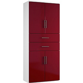 Reflections Burgundy Twin Double Door Combination Cupboard With Drawers £588 - Office Storage