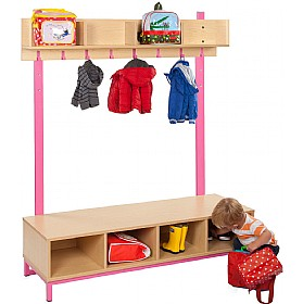 Bubblegum Cloakroom Bench Bundle 3 £345 - Education Furniture