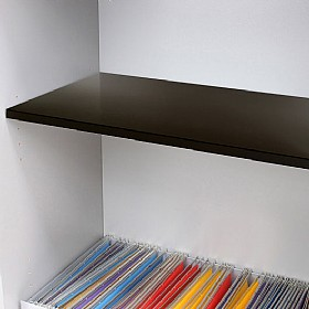 Reflections Black Steel Shelf £35 - Office Storage