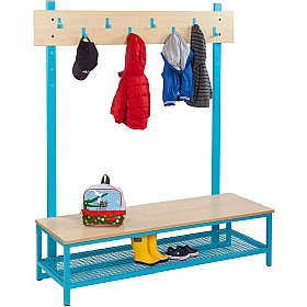 Bubblegum Cloakroom Bench Bundle 4 £389 - Education Furniture