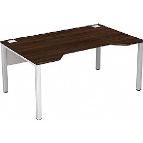 Presence Compact Double Wave Desk £207 - Office Desks