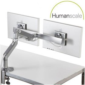 Humanscale M8 Monitor Arms With Crossbar £291 - Office Furnishings