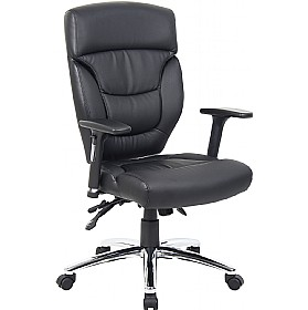Galileo Leather Faced Manager Chair £156 - Office Chairs