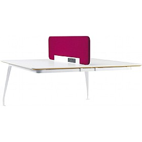 DNA Double Rectangular Bench Desk Extension £950 - Office Desks