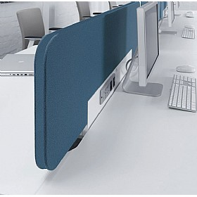 DNA Fabric Desktop Screens With Power Rail £0 - Office Screens