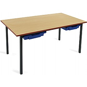 Scholar Black Frame Classroom Tables With Trays £58 - Education Furniture