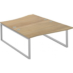 Interface Back To Back Wave Desks £488 - Office Desks
