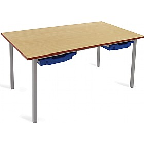 Scholar Light Grey Frame Classroom Tables With Trays £0 - Education Furniture