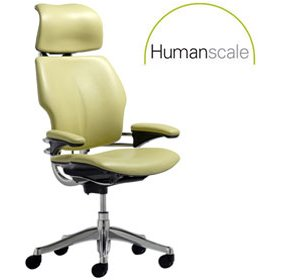 Humanscale Freedom Leather Task Chair With Headrest £713 -