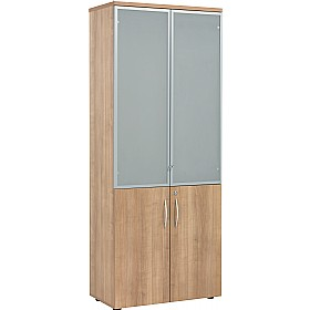 Percepta High Storage Cupboard With Glass Doors £458 - Office Desks