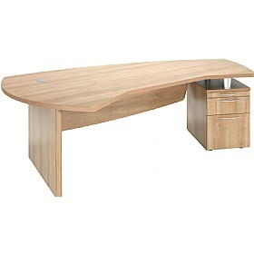 Percepta Executive Curve Desk With Pedestal £392 - Office Desks