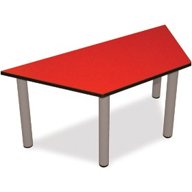 Scholar Heavy Duty Trapezoidal Cylinder Legged Tables With Light Grey Frame £0 - Education Furniture