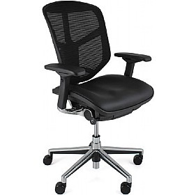 Enjoy Mesh & Leather Office Chairs (Without Headrest) £403 - Office Chairs