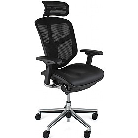 Enjoy Mesh & Leather Office Chairs (With Headrest) £402 - Office Chairs