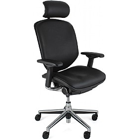 Enjoy Leather Office Chair (With Headrest) £465 - Office Chairs