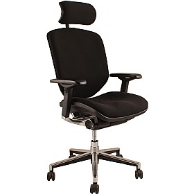 Enjoy Fabric Office Chair  (With Headrest) £386 - Office Chairs