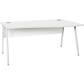 NEXT DAY Blaze A-Frame Wave Desks £208 - Next Day Office Furniture