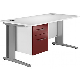 NEXT DAY Distinct Cantilever Rectangular Desks With Single Fixed Pedestal £274 - Next Day Office Furniture
