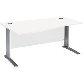 NEXT DAY Kudos Cantilever Wave Desks £219 - Next Day Office Furniture