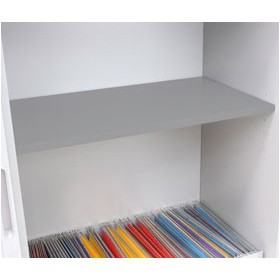 NEXT DAY Reflections Silver Steel Shelf £63 - Office Cupboards
