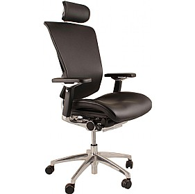 Nefil Ergonomic Leather Office Chair (With Headrest) £612 - Office Chairs