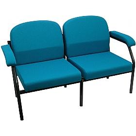 extra heavy duty two seat modular reception armchair