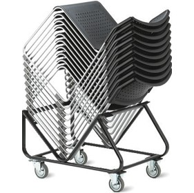 Verso Heavy Duty Visitor Chair Trolley £126 - Office Chairs