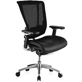 Nefil Ergonomic Mesh & Leather Office Chair (Without Headrest) £484 - Office Chairs