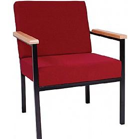 budget heavy duty reception armchair metal frame