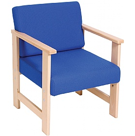 Heavy Duty Solid Beech Low Reception Armchair £152 - Reception Furniture