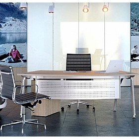 Elite Callisto A-Frame Radius Reception Desks £532 - Reception Furniture