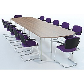 Sven X-Range Bow Conference Tables £473 - Meeting Room Furniture