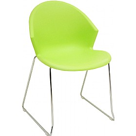 Jura Skid Base Polypropylene Chairs (Pack Of 4) £52 - Bistro Furniture