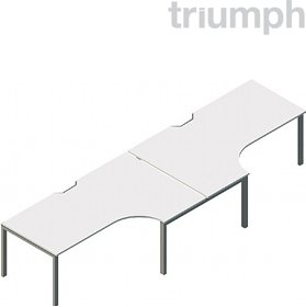 Triumph Metrix Bench 2 Person Side To Side Cluster £597 - Office Desks