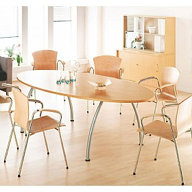 Elite Callisto Oval Meeting Tables £863 - Office Desks