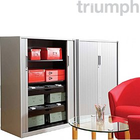 Triumph Metrix Wide Tambour Cupboards £272 - Office Desks